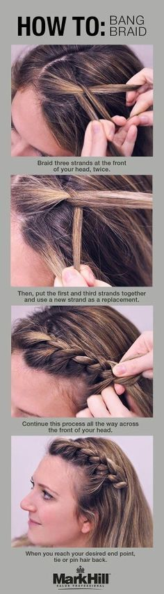 How to braid bangs