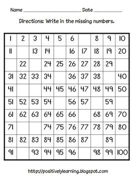 hundreds chart activity pack (a free download!)