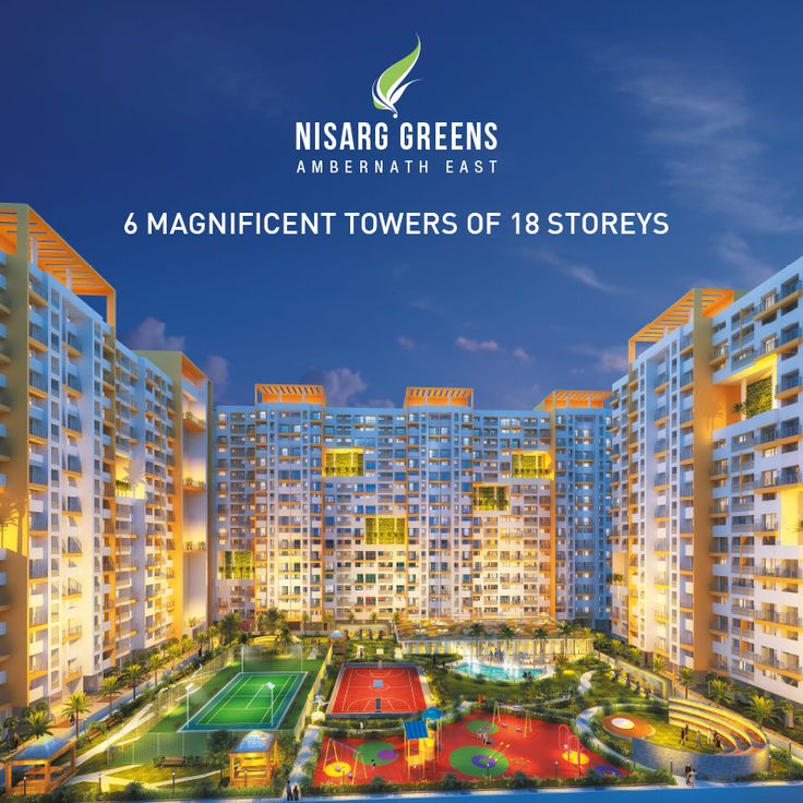 6 Magnificent Towers of 18 Storeys To know more log on to: http://www.nisarggroup.com/greens/ Or you can call on: 08655 787878   SMS 'GREENS' to 56161 #realestate #residential #property #homes #residences #nature #greens #ecoluxury