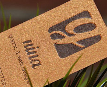 biglietto da visita creative con rilievo creative business card