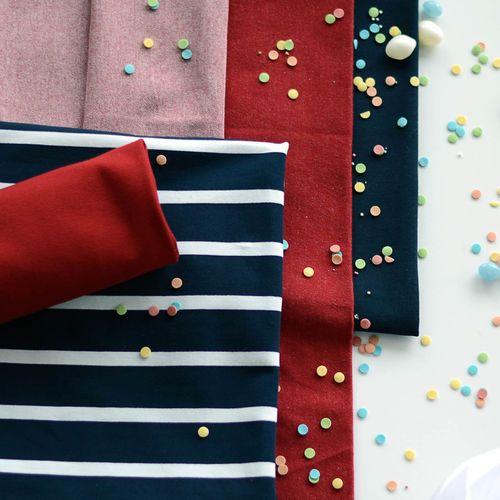 Stripe College, Navy | NOSH Fabrics Spring & Summer 2016 Collection - Shop at en.nosh.fi | Kevään 2016 malliston kankaat saatavilla nyt nosh.fi