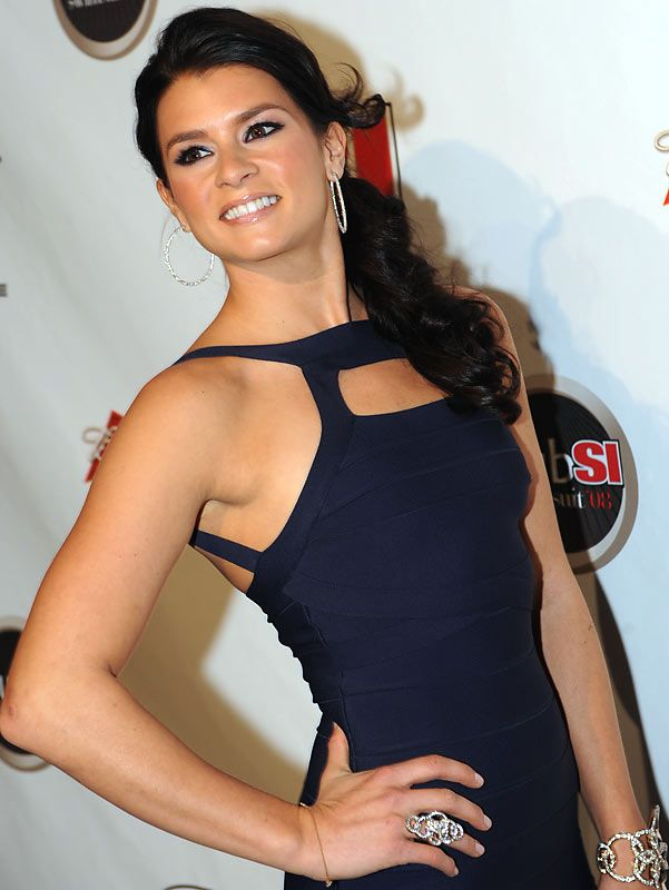 A racer with style - Danica Patrick shows off not only brilliant jewelry, but also a sexy look in her cut gown.