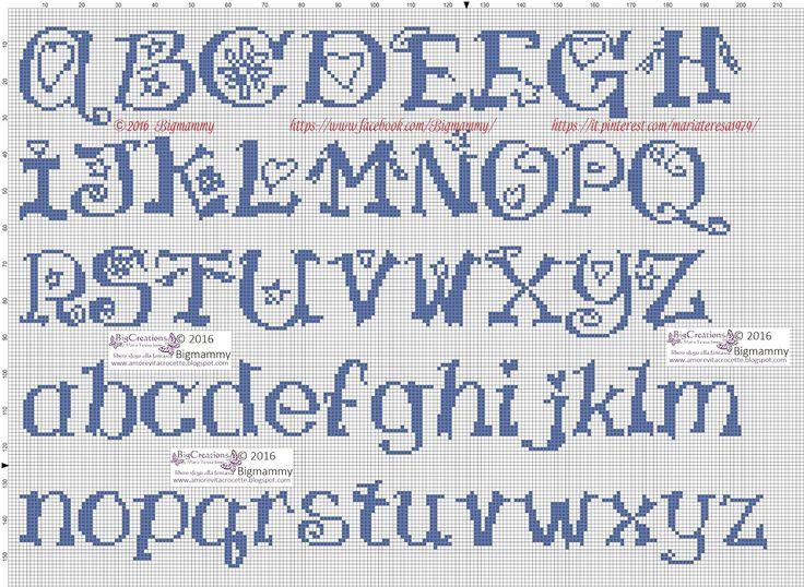 amorevitacrocette: ancora tanti alfabeti a punto croce