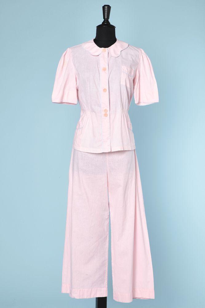 Pyjama en coton rose