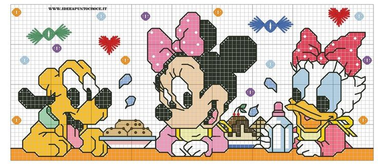 376 Best Mickey Minnie And Donald Cross Stitch Images On