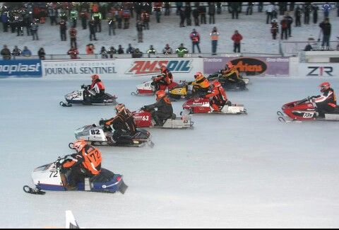Eagle River Wisconsin world championship snowmobile Derby