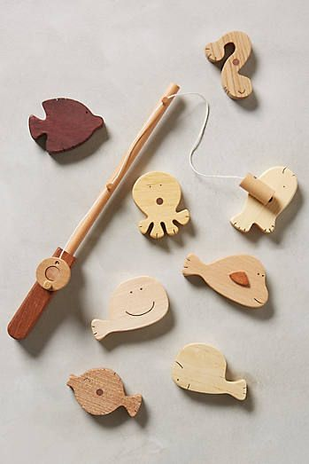 Ensemble de pêche en bois