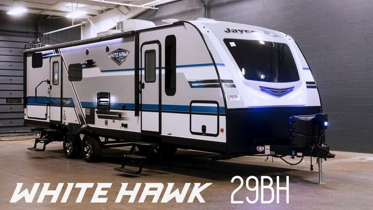 (adsbygoogle = window.adsbygoogle || []).push();           (adsbygoogle = window.adsbygoogle || []).push();  This is a brand new 2018 Jayco Whitehawk 29BH. The Whitehawk is an attractive line of ultra lite travel trailers – For 2018 they have a cool retro vibe: blue and...