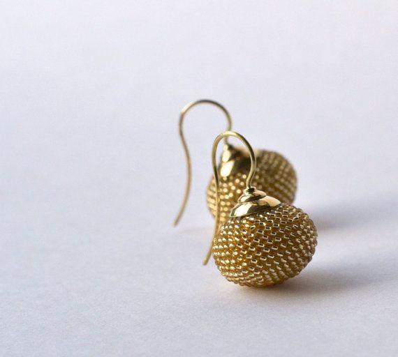 Ohrringe Gold 14ct von Donauluft auf Etsy