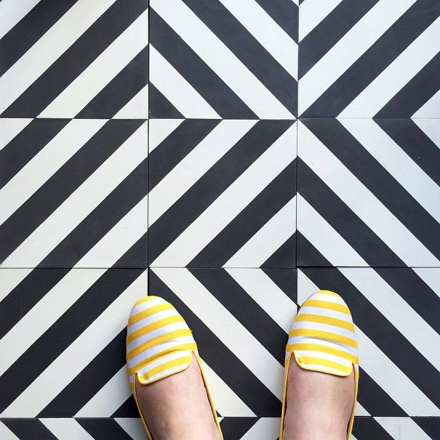 Black And White Striped Tile Lovely At Every Turn Cl 233