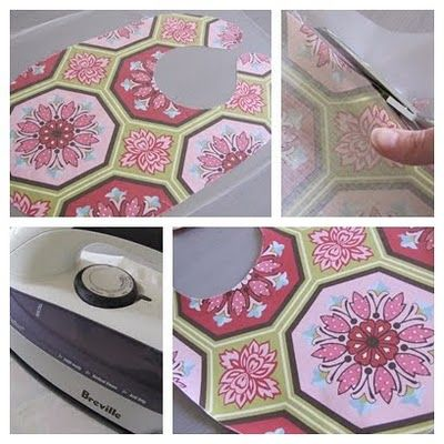 Laminating your fabric  There are many laminated fabrics and oilcloths available from retailers but you can also laminate your own with a clear iron on vinyl.