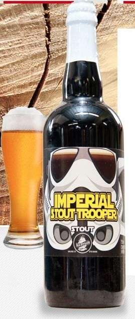 Imperial Stout Trooper / New England Brewing Company. Why is it yellow? Lol it's…