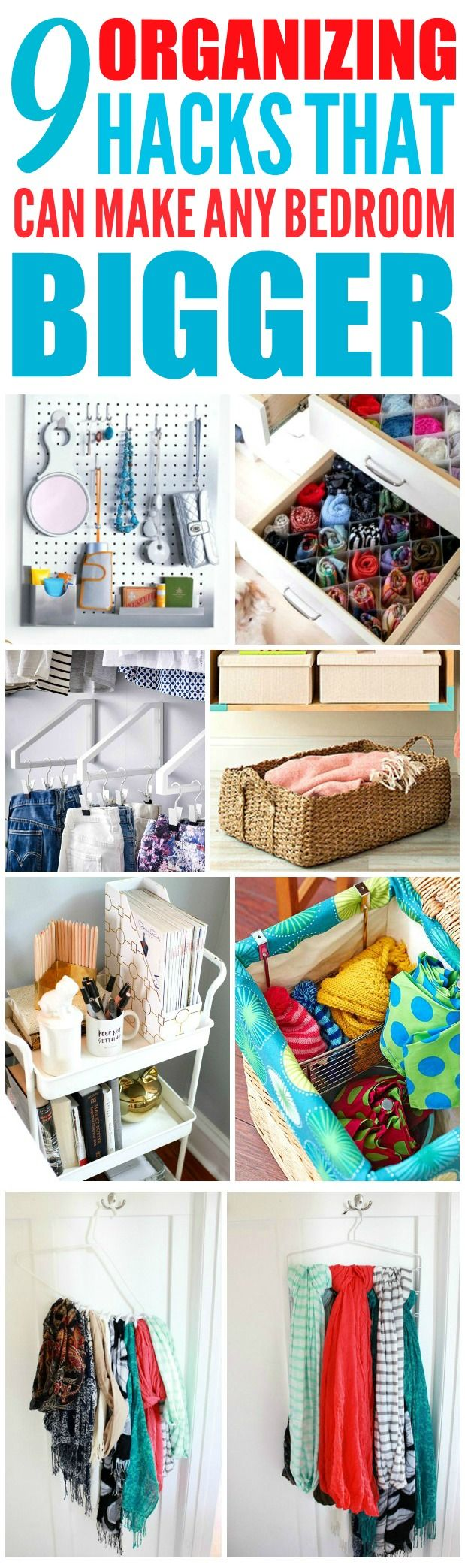 9 Super Efficient Ways To Organize Your Small Bedroom. Organizing Small BedroomsBedroom  Organization TipsOrganize ...