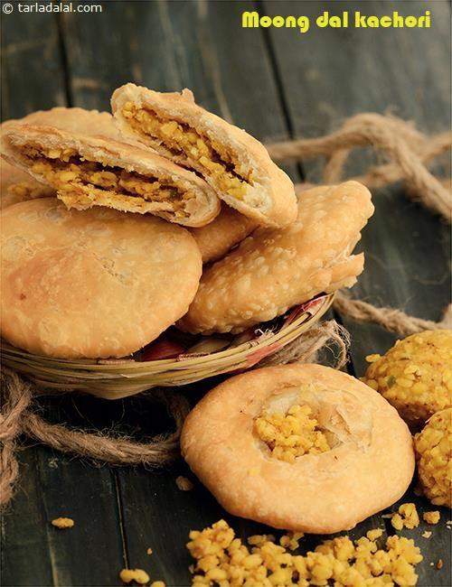 Moong Dal Kachori recipe | Kachori Recipe | by Tarla Dalal | Tarladalal.com | #3862