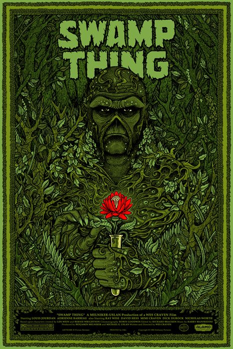Swamp Thing by Florian Bertmer - this is the best poster I've seen playing up the Beauty & the Beast angle.