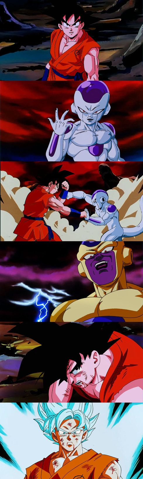 Dragon Ball Z Resurrection F redone in classic DBZ style! Created by: Salvamakoto on Deviantart! #SonGokuKakarot