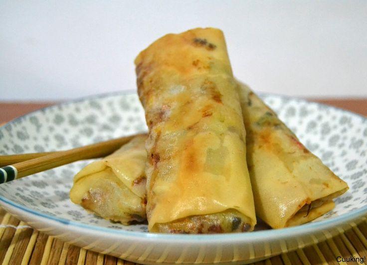 Rollitos de primavera caseros (fritos o al horno) | Cuuking! Recetas de cocina