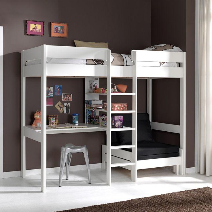 Best 25 lit mezzanine ideas on pinterest mezzanine - Lit mezzanine noir avec bureau ...