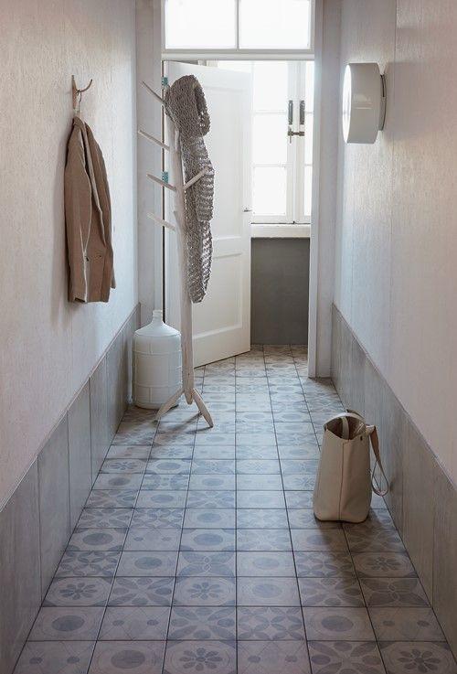 Tiled hall floor