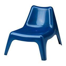 "IKEA PS VÅGÖ chair, outdoor, dark blue Width: 29 1/8 "" Depth: 36 1/4 "" Height: 28 "" Width: 74 cm Depth: 92 cm Height: 71 cm"