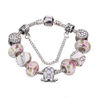 Femme+Filles´+Charmes+pour+Bracelets+Bracelets+Rigides+Bracelets+de+rive+Bracelets+en+Argent+CristalAcrylique+Strass+Plaqué+argent+–+EUR+€+8.46