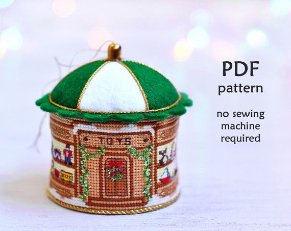 Cross Stitch Christmas Ornament. Christmas by LivingOnTheRainbow