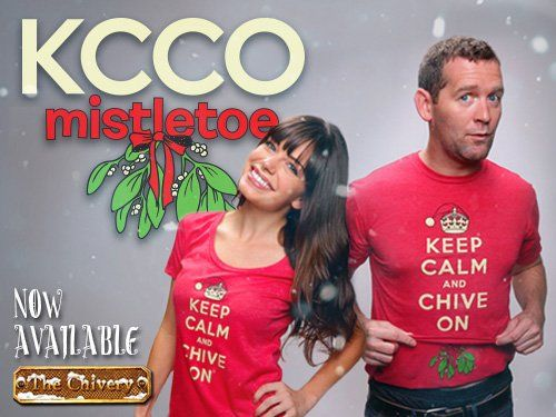 The Chive Mistletoe Keep calm and Chive On shirt, Womens small. (mine is green, found it new at goodwill) :)