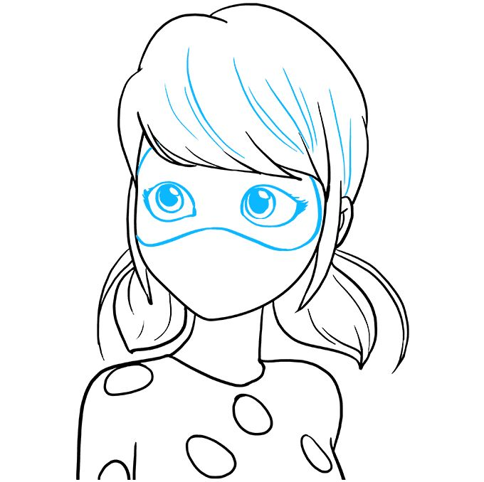 How to Draw Miraculous Ladybug Really Easy Drawing Tutorial in 2020 Drawing tutorial easy