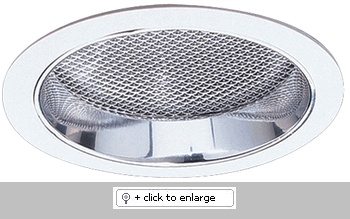 """7"""" Compact Fluorescent Vertical Reflector with Regressed Prismatic Lens  Dimension: 7 1/2"""" O.D."""