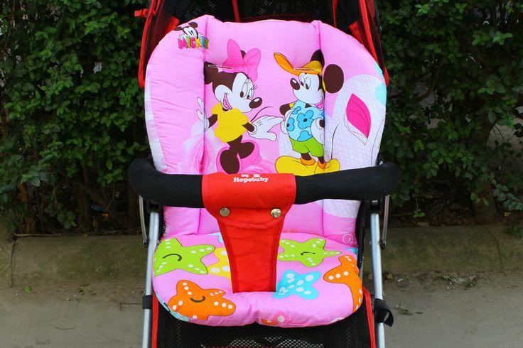 赤ちゃんベビーカークッション綿パッドダイニングチェア一般ドットクッション綿厚いマットカバー子カートの座席