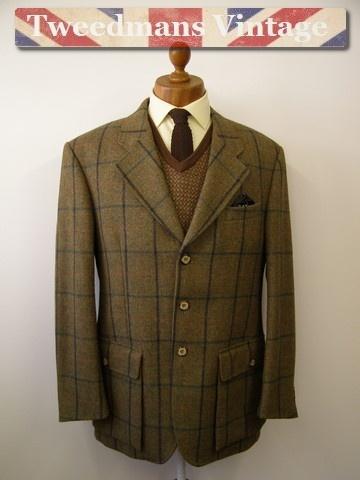 Pristine Hucklecote tweed shooting jacket mens 42R - £89 @ Tweedmans Vintage