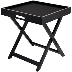 Paint Orange Urban Shop Side Table with Removable Tray, Multiple Colors