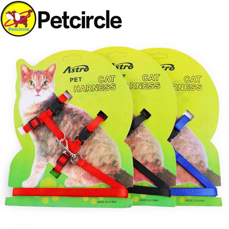 petcircle 2017 wholesale black pet cat leash pure color nylon cat leash and harness 3 colors cat supplies free shipping