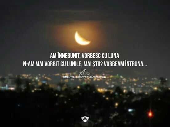 Acuma vorbesc cu luna
