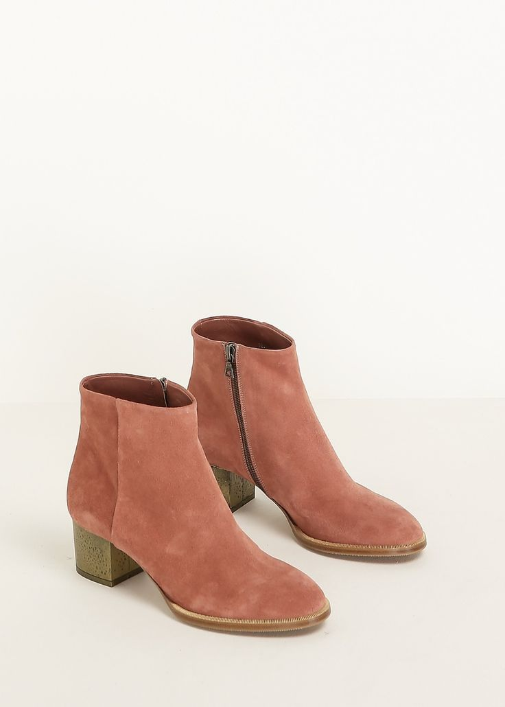 Dries Van Noten Suede Ankle Boot (Old Rose)
