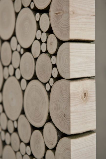 Log wall tiles sliced and crafted to make a perfect for Unique interior wall finishes
