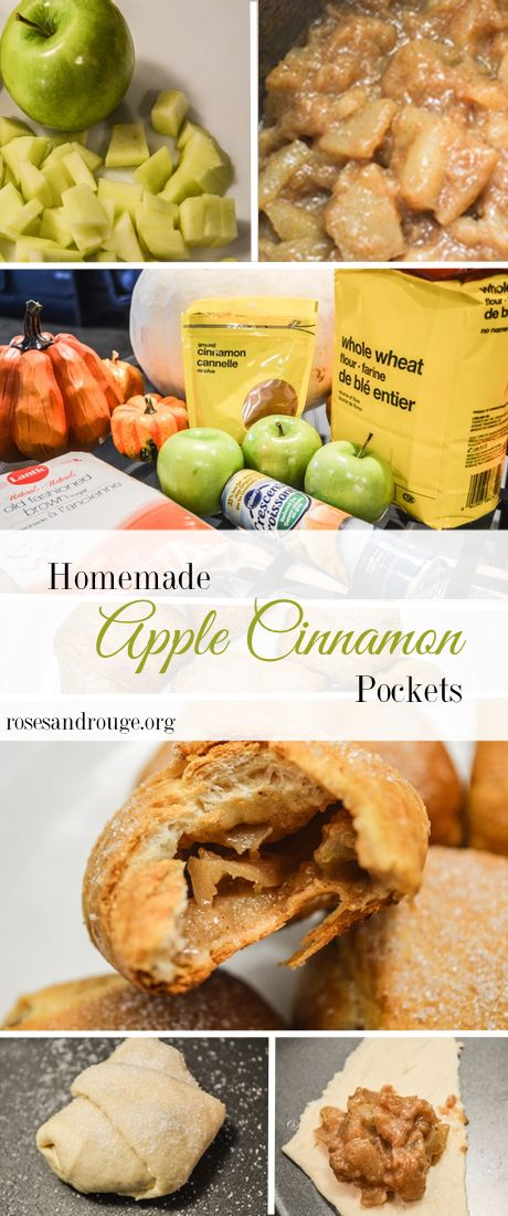 A delicious, easy and budget friendly recipe for a new fall favourite - Cinnamon Apple Pockets!   Roses & Rouge Lifestyle Blog www.rosesandrouge.org