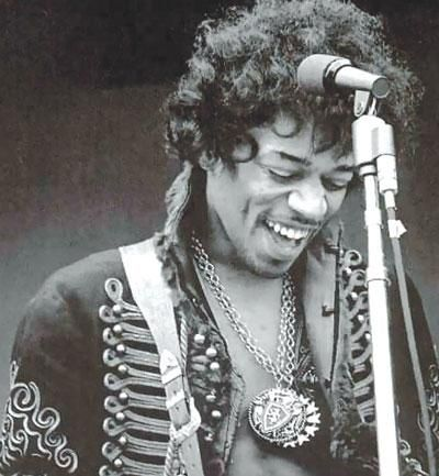 Jimi Hendrix - You can see the happiness & joy of his being in his smile! My first true guitar teacher!