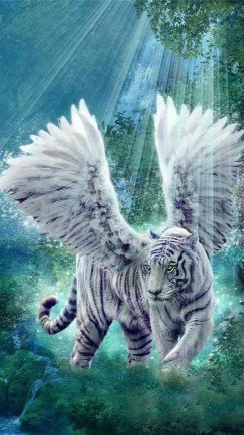 Wallpaper Harimau Putih Bersayap Animals And Pets Animals Pets