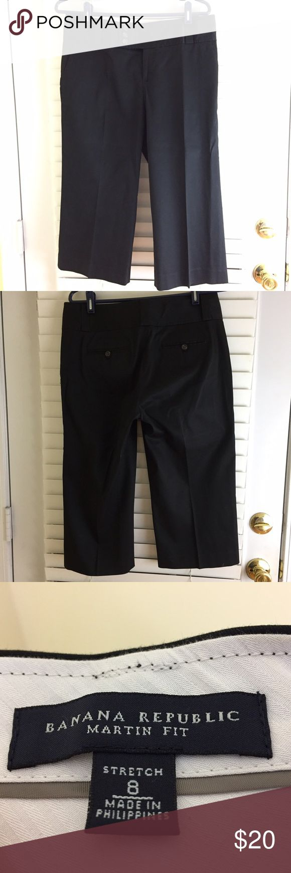 Banana Republic Black Martin Fit Crop Trousers Banana Republic Black Martin Fit Crop Trousers in Size 6 Banana Republic Pants Trousers