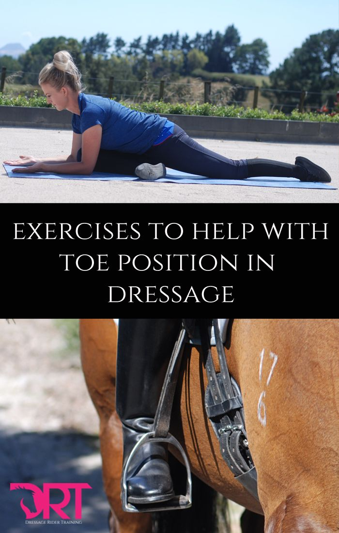 Exercises to help with toe position in dressage