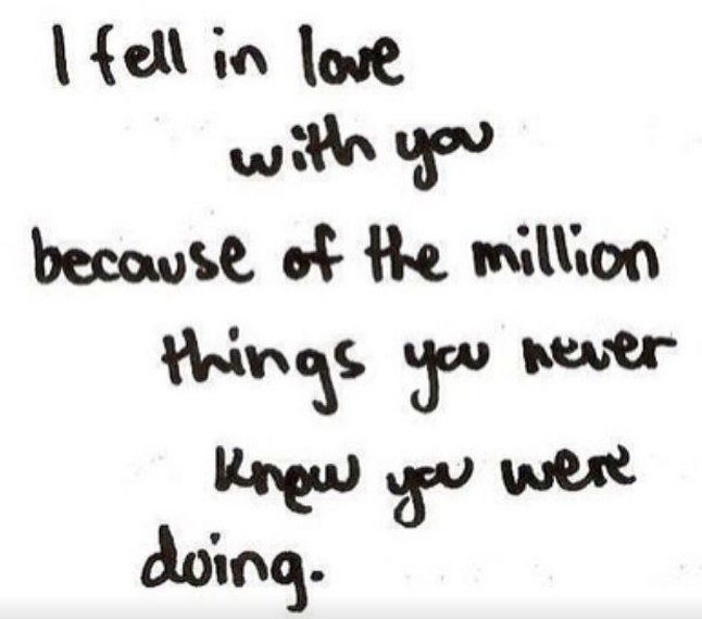 This seems like something someone in #love would say. Maybe.