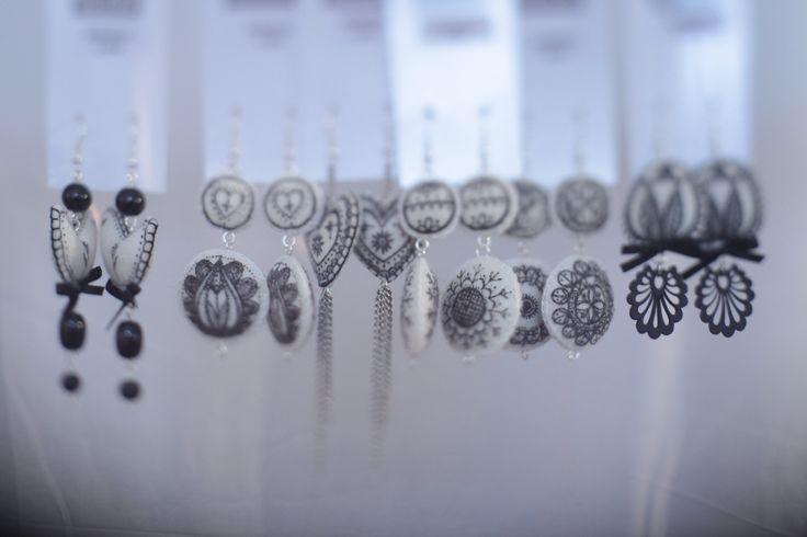 mimm textile design earrings
