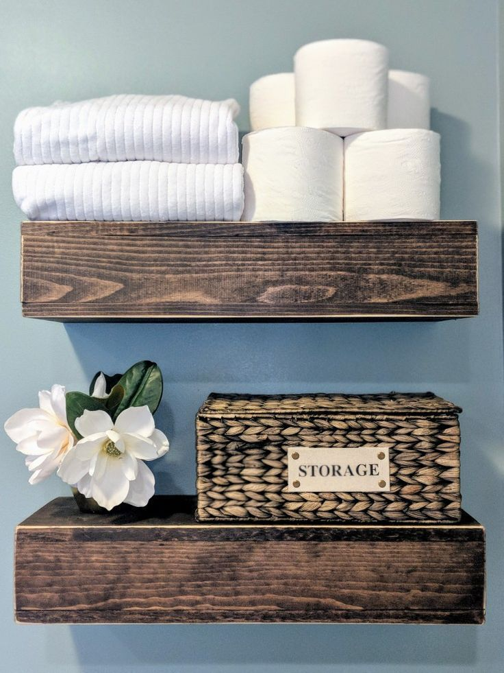 Bathroom floating shelves Floating shelf above toilet Soft green Mint green spa …   – most beautiful shelves