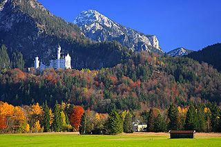 Neuschwanstein Castle - the myth of Neuschwanstein in Bavaria.  Munich, Germany - I've been there and it was fantastic.  The castle was amazing!!