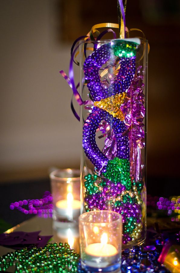 Centerpiece w/ Mask and Beads