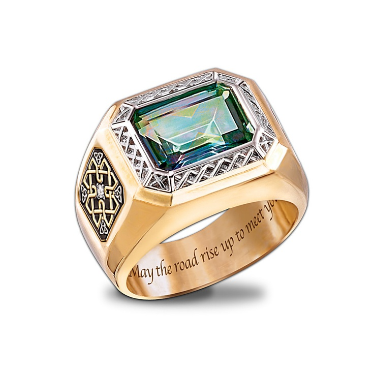 Diamond And Mystic Topaz Men's Ring:...   $199.00