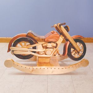 71 best woodworking images on pinterest woodworking for Woodworking plan for motorcycle rocker toy