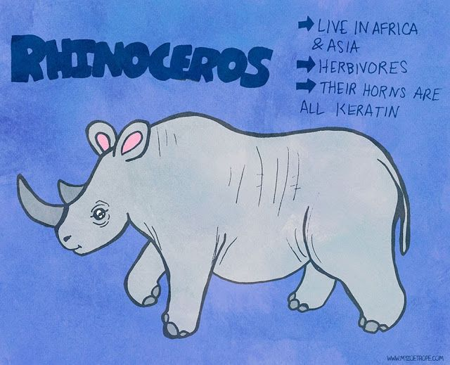 365 Days of Animals by My Zoetrope 228: Rhinoceros Pen/Ink/Digital