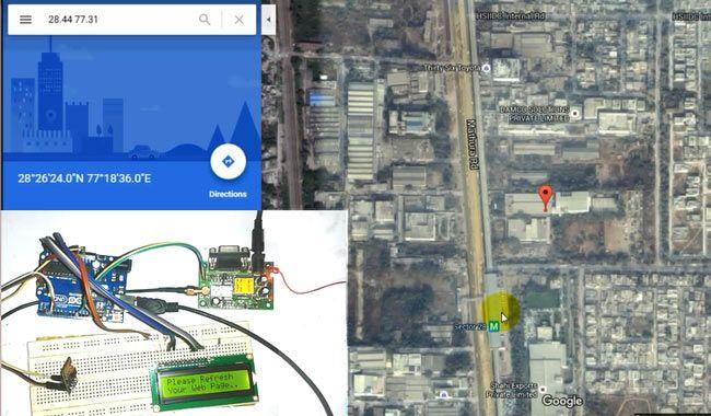 Arduino Vehicle Tracker using ESP8266, GPS and Google Maps